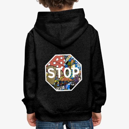 panneau stop pidraw - Pull à capuche Premium Enfant