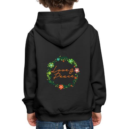 Love and Peace - Kids' Premium Hoodie