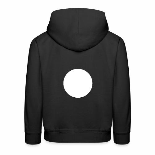 white circle - Premium-Luvtröja barn