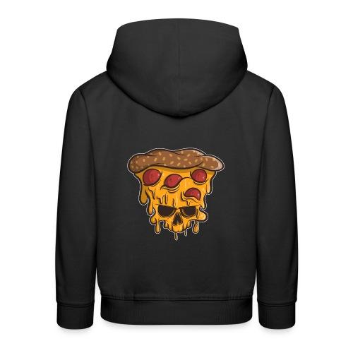 Zombie Halloween Pizza Skull - Kinder Premium Hoodie