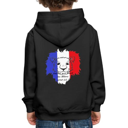 Lion supporter France - Pull à capuche Premium Enfant