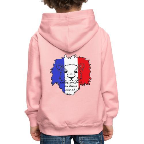 Lion supporter France - Pull à capuche Premium Enfant
