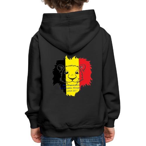Lion supporter Belgique - Pull à capuche Premium Enfant