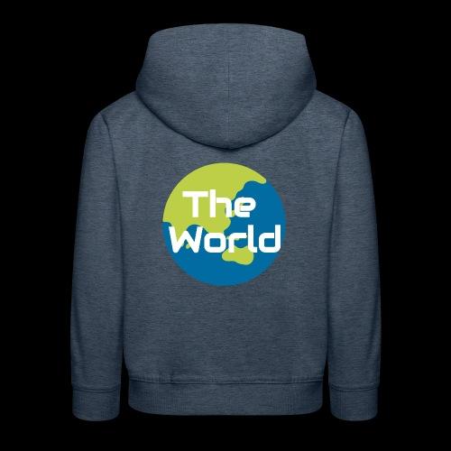 The World Earth - Premium hættetrøje til børn