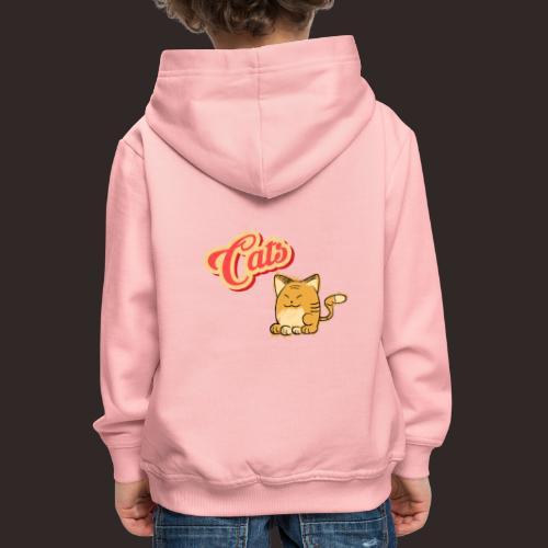 Katze | Katzen süß Schriftzug - Kinder Premium Hoodie