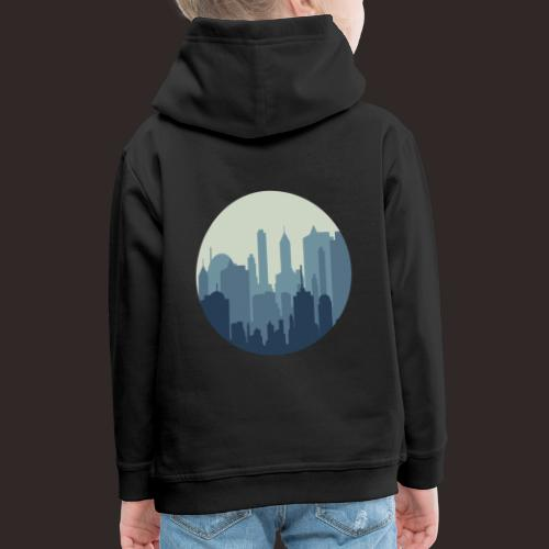 Stadt | Skyline Wolkenkratzer Hochhaus - Kinder Premium Hoodie