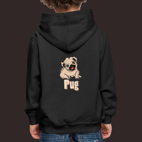 Mops | süß Hund Welpe - Kinder Premium Hoodie