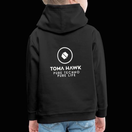 Toma Hawk - Pure Techno - Pure Life White - Kinder Premium Hoodie