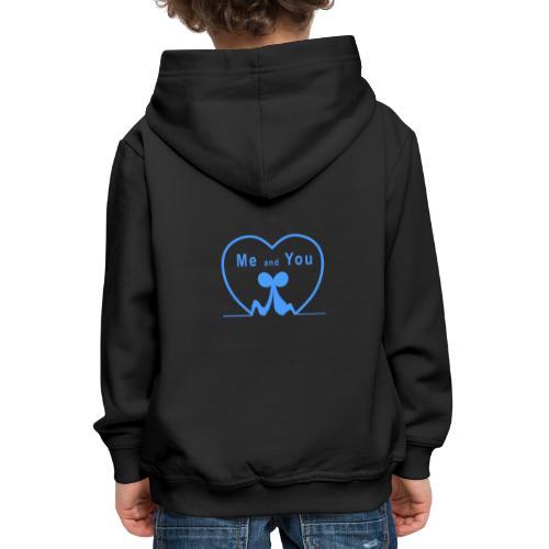 Io e te... LIGHT BLUE - Felpa con cappuccio Premium per bambini