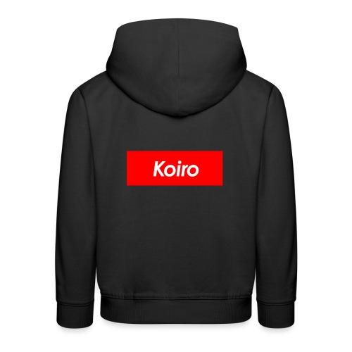 Koiro - Punainen - Lasten premium huppari