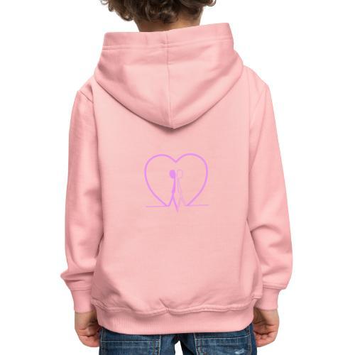Non aver paura dell'uguaglianza... Man man PINK - Felpa con cappuccio Premium per bambini