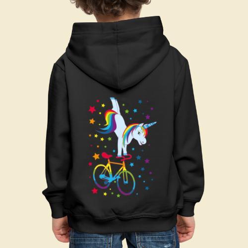 Kunstrad   Einhorn Handstand Regenbogen - Kinder Premium Hoodie