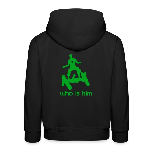 Who is that green man - Pull à capuche Premium Enfant