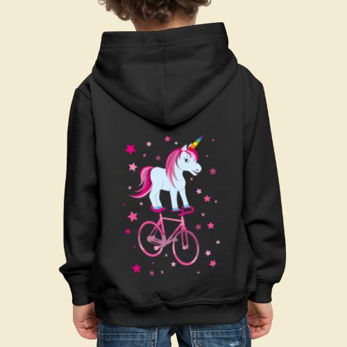 Kunstrad   Einhorn Pink - Kinder Premium Hoodie