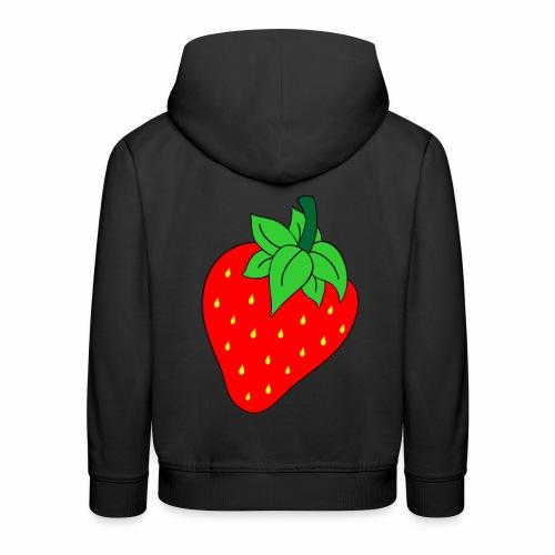 Erdbeere - Kinder Premium Hoodie