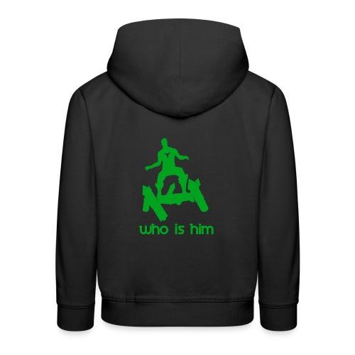 Who is that green man - Pull à capuche Premium Enfant