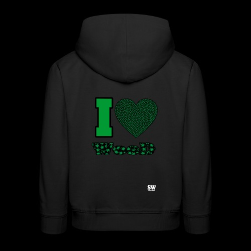 I Love weed - Pull à capuche Premium Enfant