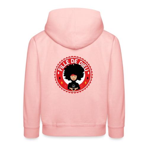 fille de Dieu rouge - Pull à capuche Premium Enfant