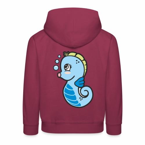 Seepferdchen blau - Kinder Premium Hoodie