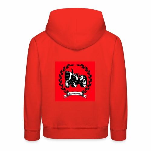 KonradSB czerwony - Bluza dziecięca z kapturem Premium