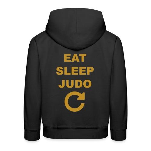 Eat sleep Judo repeat - Bluza dziecięca z kapturem Premium