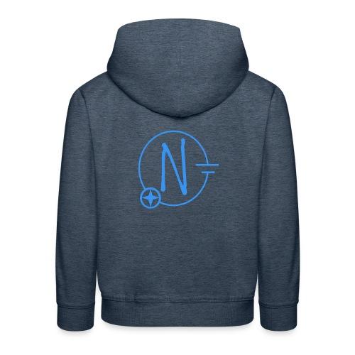 Logo1 blau - Kinder Premium Hoodie