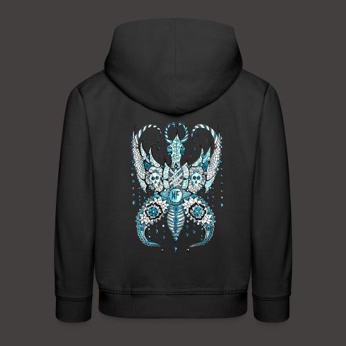 Papillon Lilou Turquoise - Pull à capuche Premium Enfant