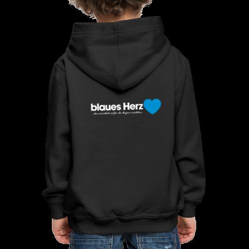 blaues Herz - Kinder Premium Hoodie