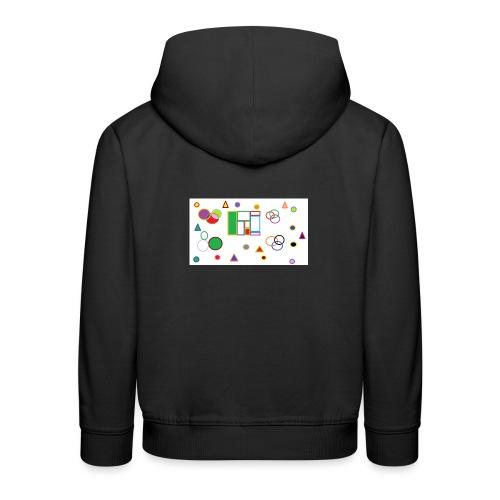 Geometric Figures - Sudadera con capucha premium niño