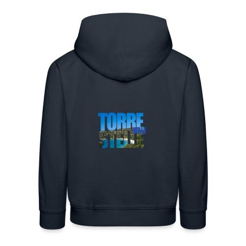 TorreTshirt - Felpa con cappuccio Premium per bambini