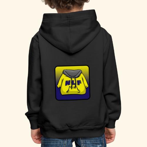 logo evilgrizzly - Pull à capuche Premium Enfant