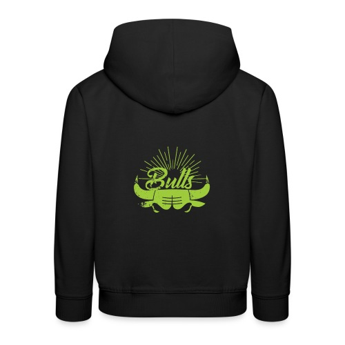 Toros verdes, Bulls BasketBall deporte - Sudadera con capucha premium niño