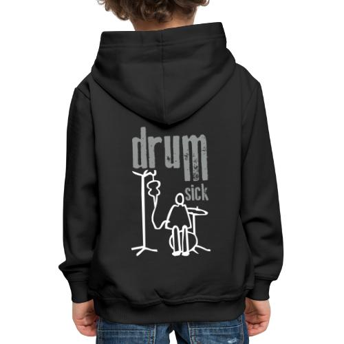 drums and text - Kinder Premium Hoodie