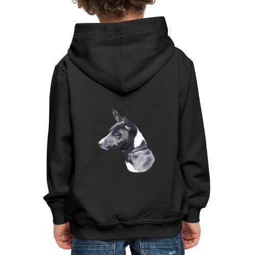 basenji black - Premium hættetrøje til børn