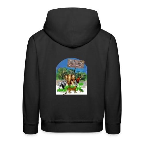 STOP - Jungle Destruction - Kinder Premium Hoodie