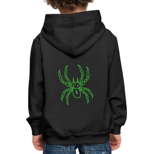 Spinne grün - Kinder Premium Hoodie