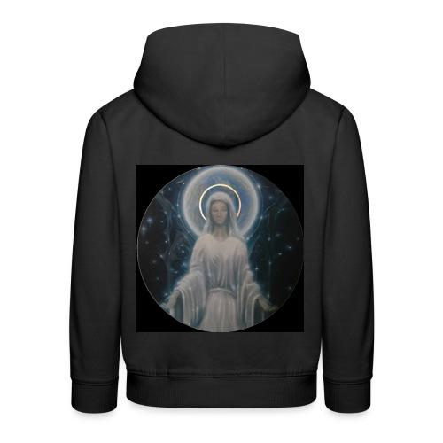 圣母玛利亚 Notre Dame by Jean Libon (Noir) - Pull à capuche Premium Enfant