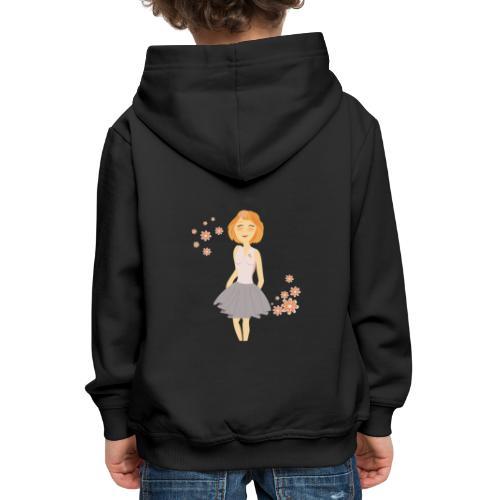 roodharig meisje - Pull à capuche Premium Enfant