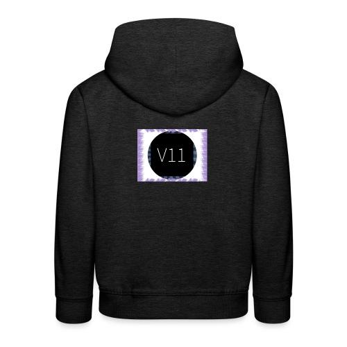 V11's first clothes - Premium-Luvtröja barn