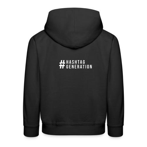 Hashtag generation logo final white - Kids' Premium Hoodie
