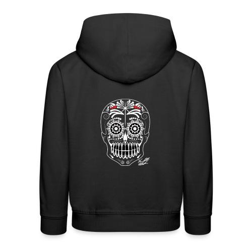 white skull - Kids' Premium Hoodie