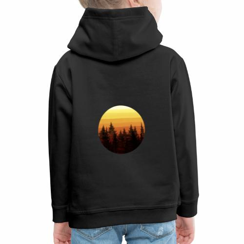 sunset - Pull à capuche Premium Enfant