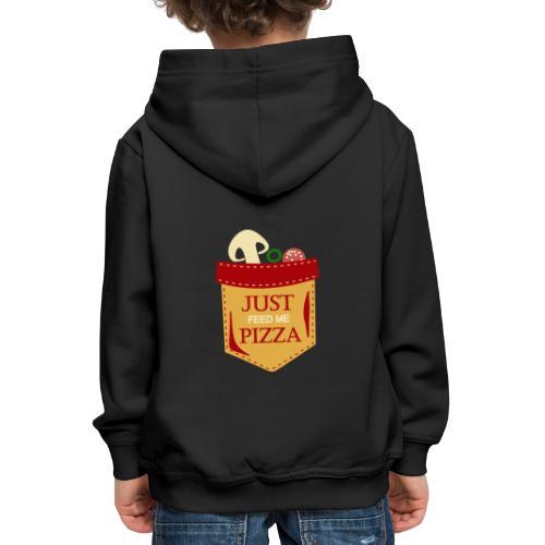 Dammi solo la pizza - Felpa con cappuccio Premium per bambini
