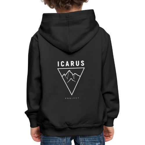 LOGO ICARUS blanc - Pull à capuche Premium Enfant