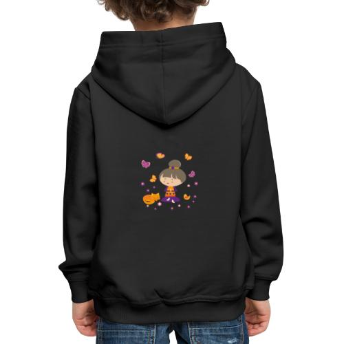 Happy Meitli - Yoga und Meditation - Kinder Premium Hoodie