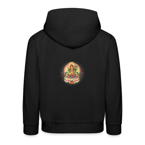 Tara Tibet Buddhismus Lotus Meditation Yoga - Kinder Premium Hoodie