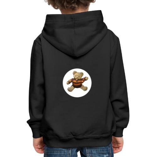 Teddybär - orange braun - Retro Vintage - Bär - Kinder Premium Hoodie