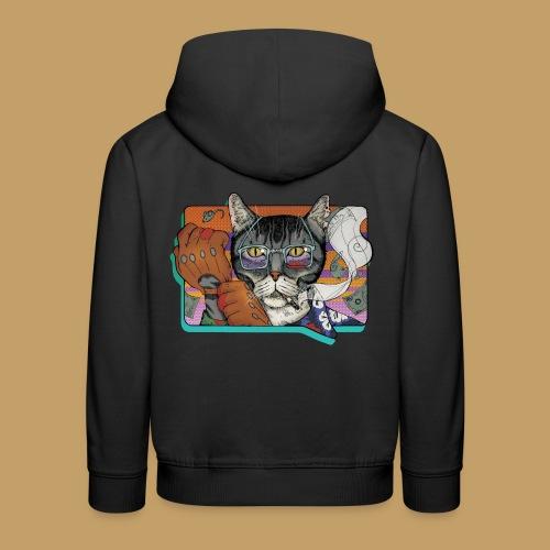 Crime Cat - Bluza dziecięca z kapturem Premium