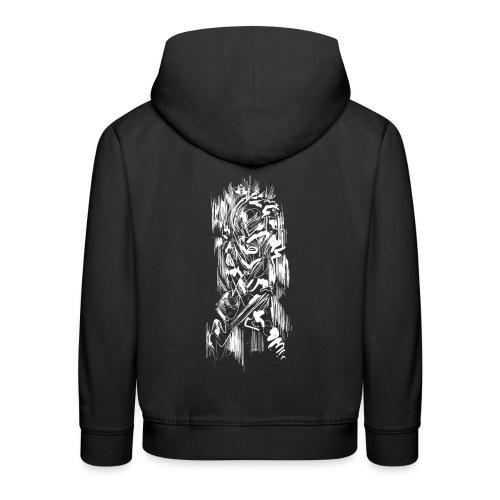 Samurai / White - Abstract Tatoo - Kids' Premium Hoodie