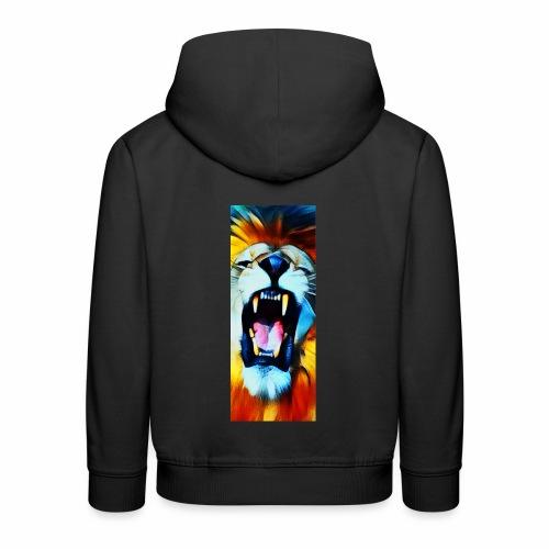 close up lion roar 03 b - Sudadera con capucha premium niño